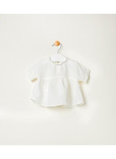 Pinolini Keten Beyaz Gömlek Beyaz